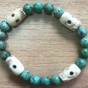 Jewelry - Turquoise mammoth ivory bracelet